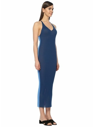 Diane Von Furstenberg Plaj Elbisesi Mavi